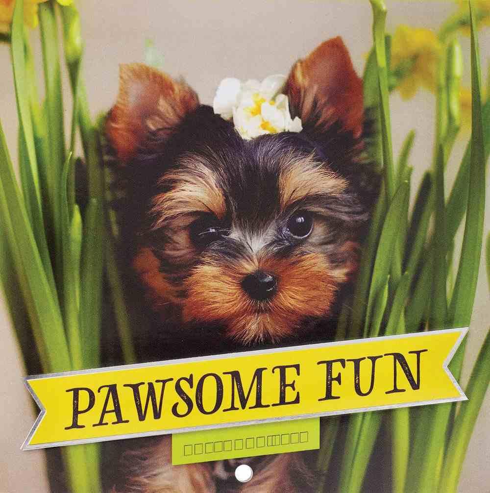 2021 12-Month Small Calendar: Pawsome Fun Calendar