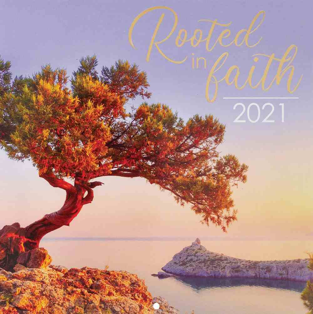 2021 12-Month Large Calendar: Rooted in Faith Calendar
