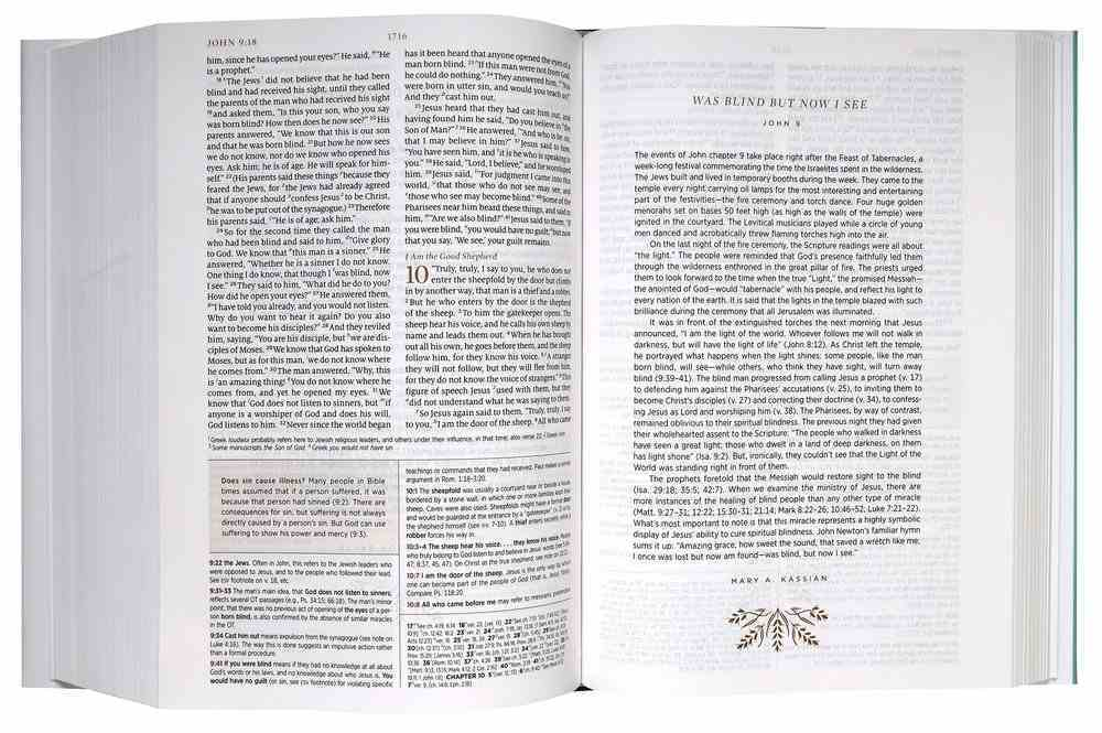 ESV Women's Study Bible Dark Teal (Black Letter Edition) Fabric Over Hardback