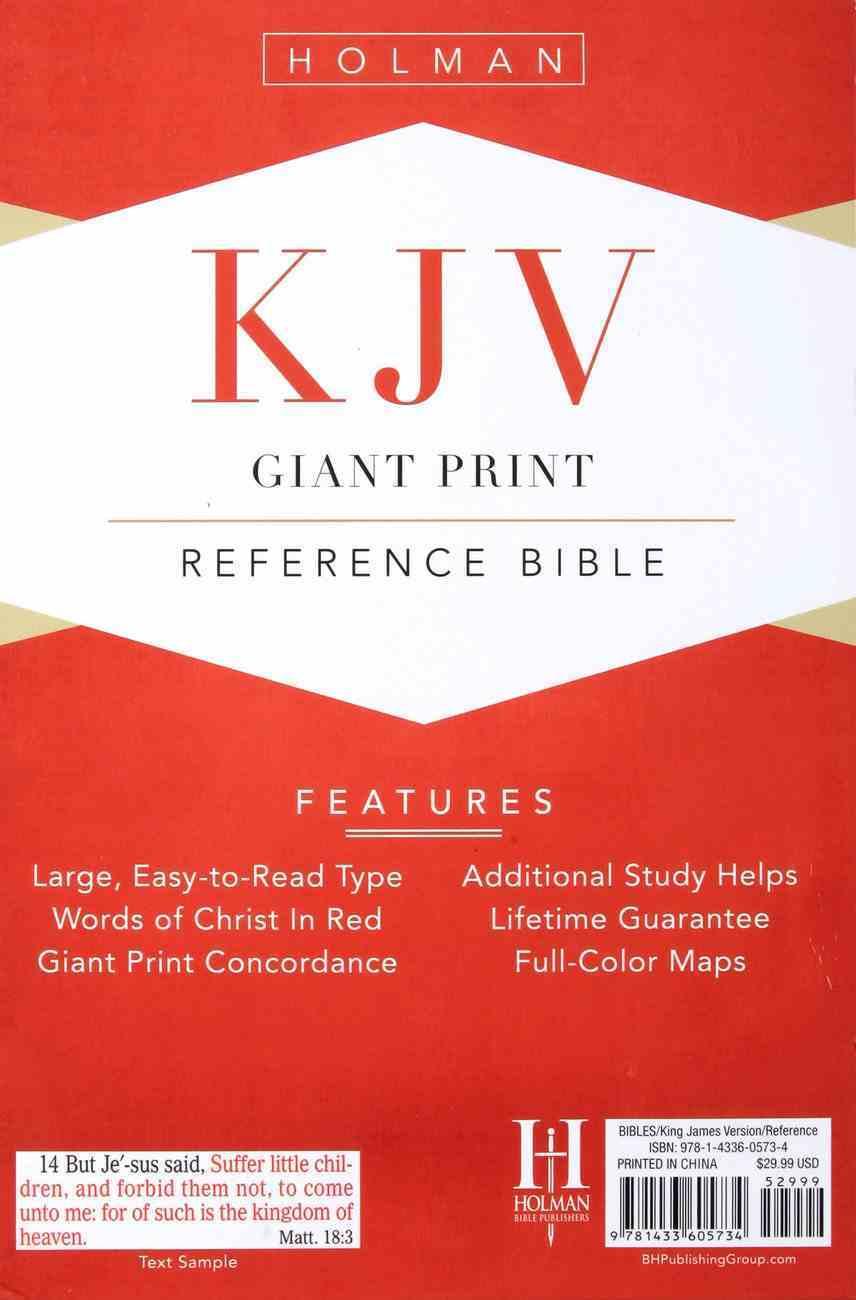 KJV Giant Print Reference Bible Purple Premium Imitation Leather