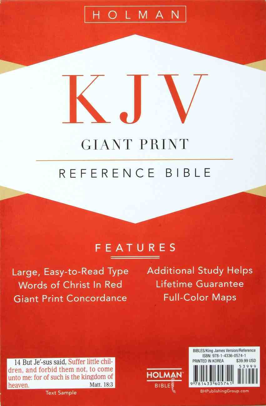 KJV Giant Print Reference Indexed Bible Pink Premium Imitation Leather