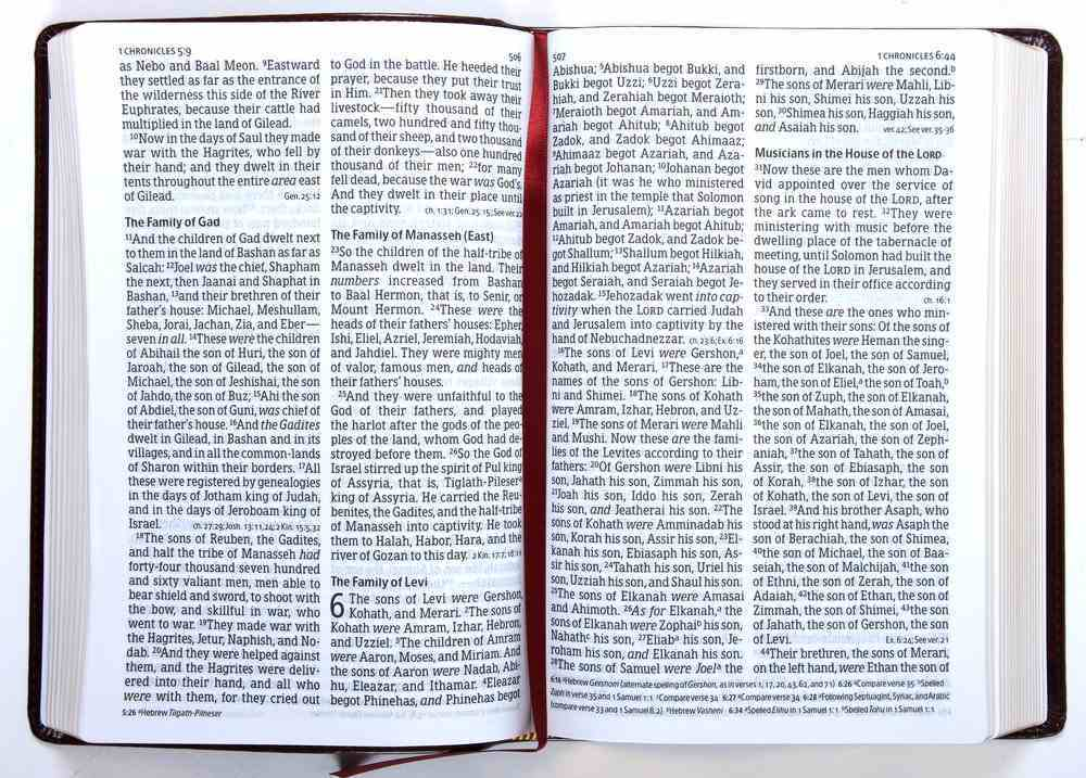 NKJV Large Print Personal Size Reference Bible Classic Burgundy (Red Letter Edition) Imitation Leather