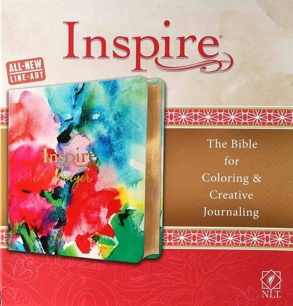 NLT Inspire Prayer Bible Joyful Colors With Gold Foil Accents (Black Letter Edition) Imitation Leather