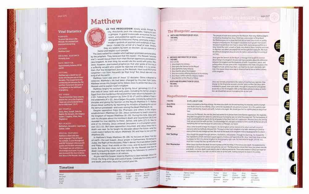NIV Life Application Study Bible 3rd Edition Indexed (Black Letter Edition) Hardback