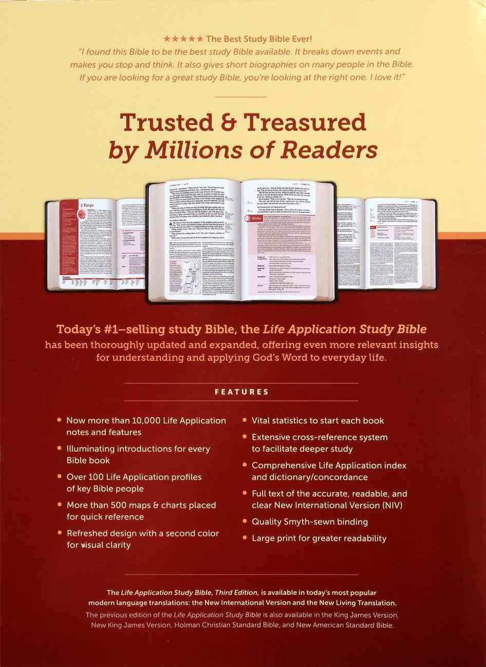 NIV Life Application Study Bible 3rd Edition Large Print (Red Letter Edition) Hardback