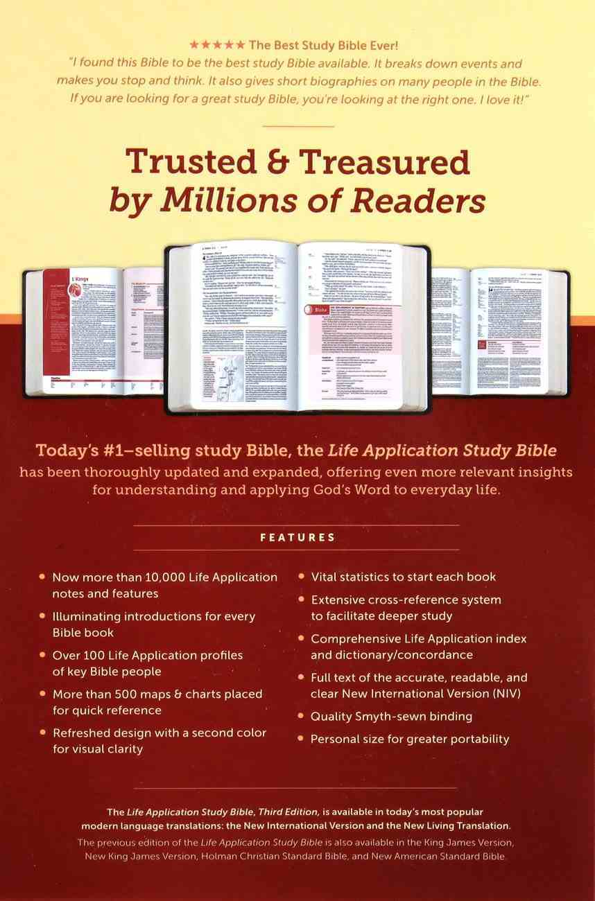 NIV Life Application Study Bible 3rd Edition Personal Size (Black Letter Edition) Hardback