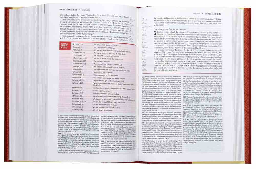 NIV Life Application Study Bible 3rd Edition Personal Size (Black Letter Edition) Paperback