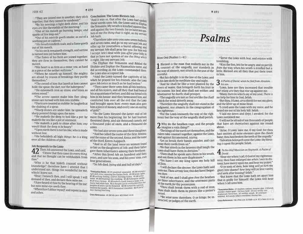 KJV Large Print Thinline Reference Bible Filament Enabled Edition Ornate Burgundy (Red Letter Edition) Imitation Leather