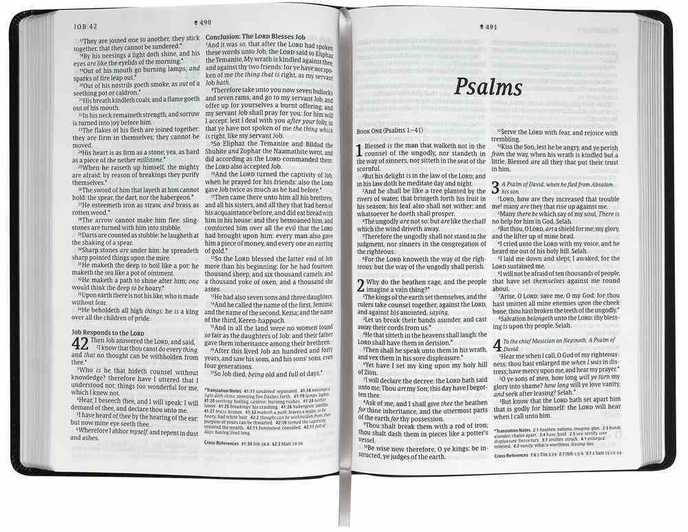 KJV Large Print Thinline Reference Bible Filament Enabled Edition Floral Frame Purple (Red Letter Edition) Imitation Leather