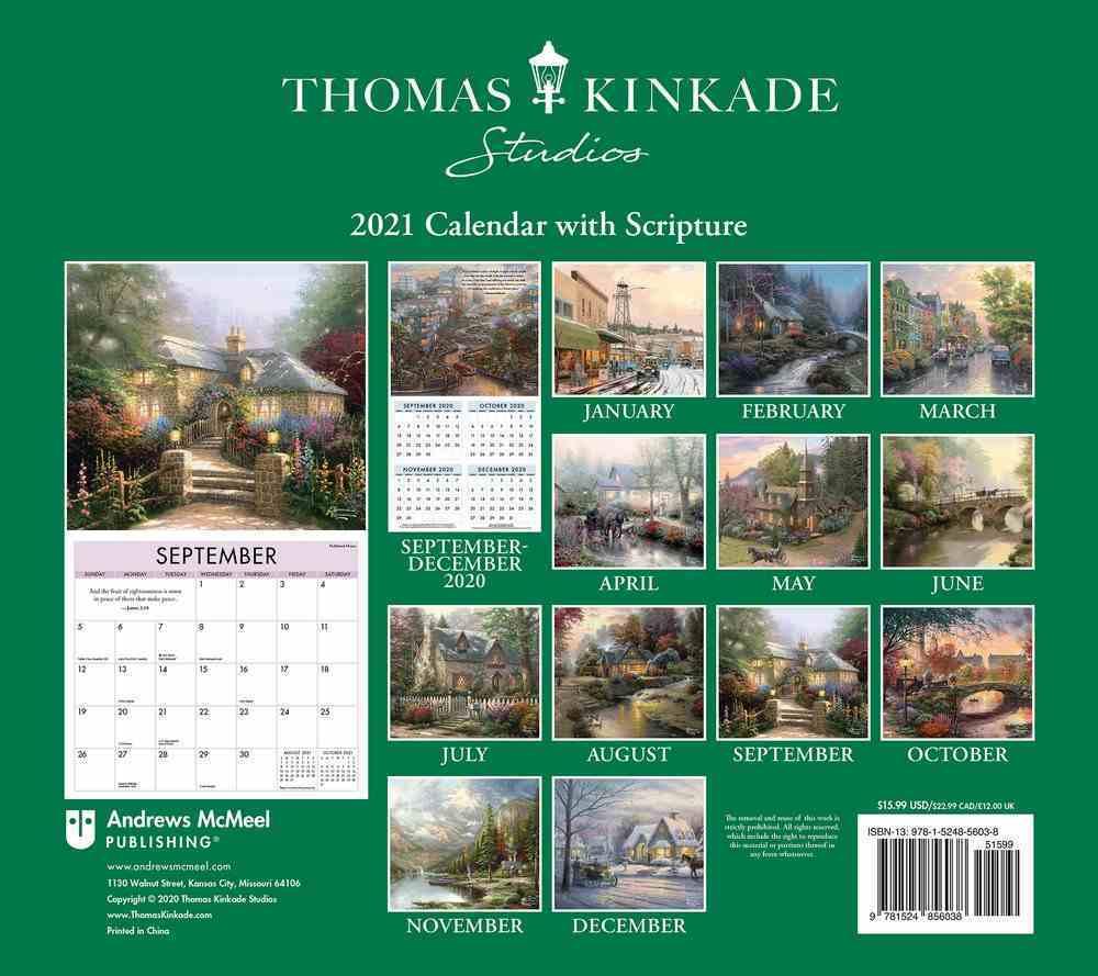 2021 Wall Calendar: Thomas Kinkade Studios With Scripture Deluxe Calendar