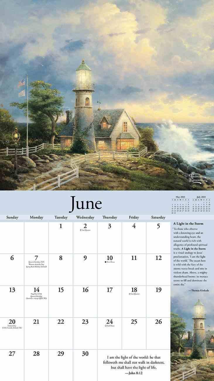 2021 Wall Calendar: Thomas Kinkade Special Collectors Edition With Scripture Deluxe Calendar
