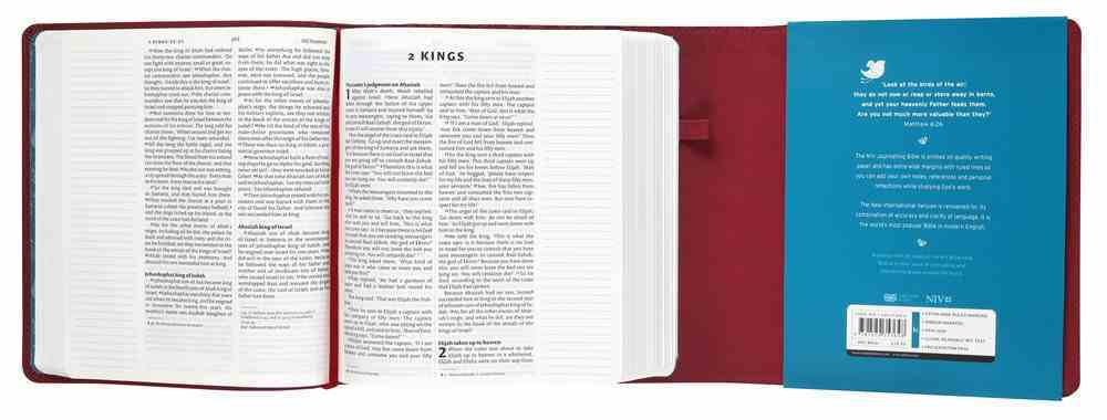 NIV Journalling Bible With Magnetic Clasp Plum Anglicised Text Flexi Back