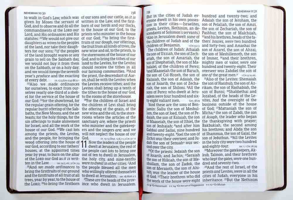 NKJV Super Giant Print Reference Bible Classic Burgundy (Red Letter Edition) Imitation Leather