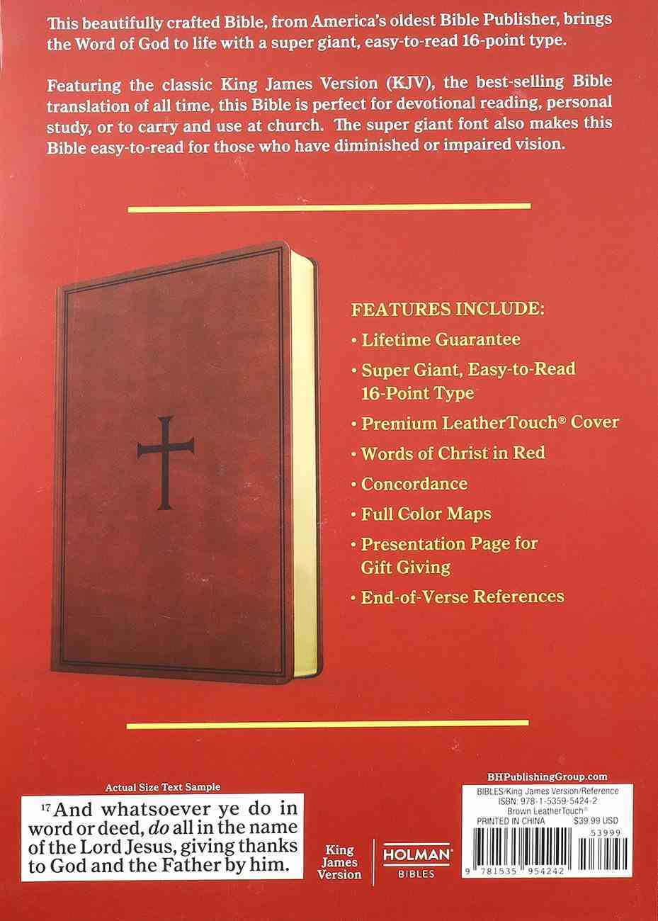 KJV Super Giant Print Reference Bible Brown (Red Letter Edition) Imitation Leather