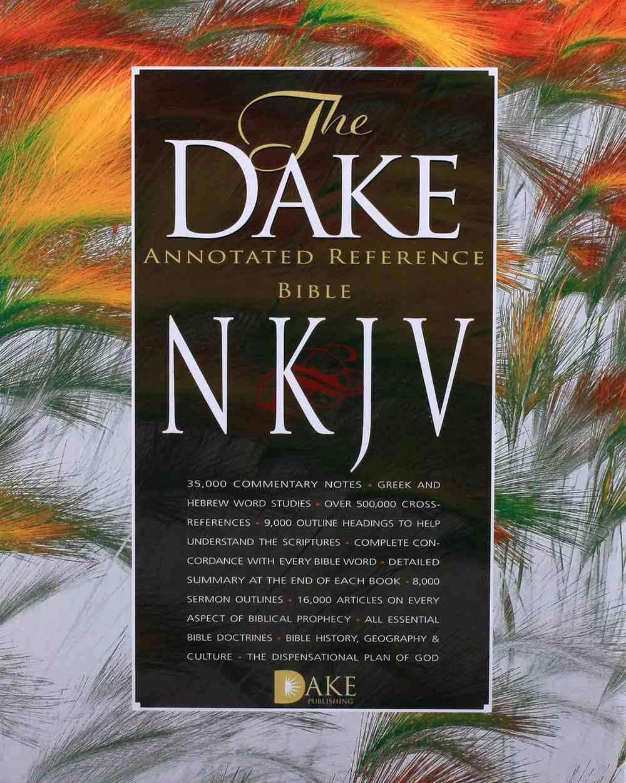 NKJV Dake Bible Burgundy Bonded Leather