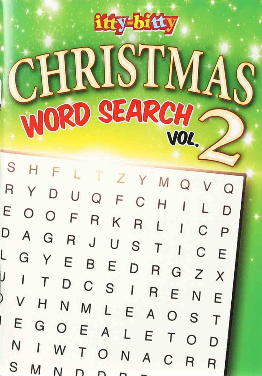 Christmas Word Search (Volume 2) (Itty Bitty Bible Series) Paperback