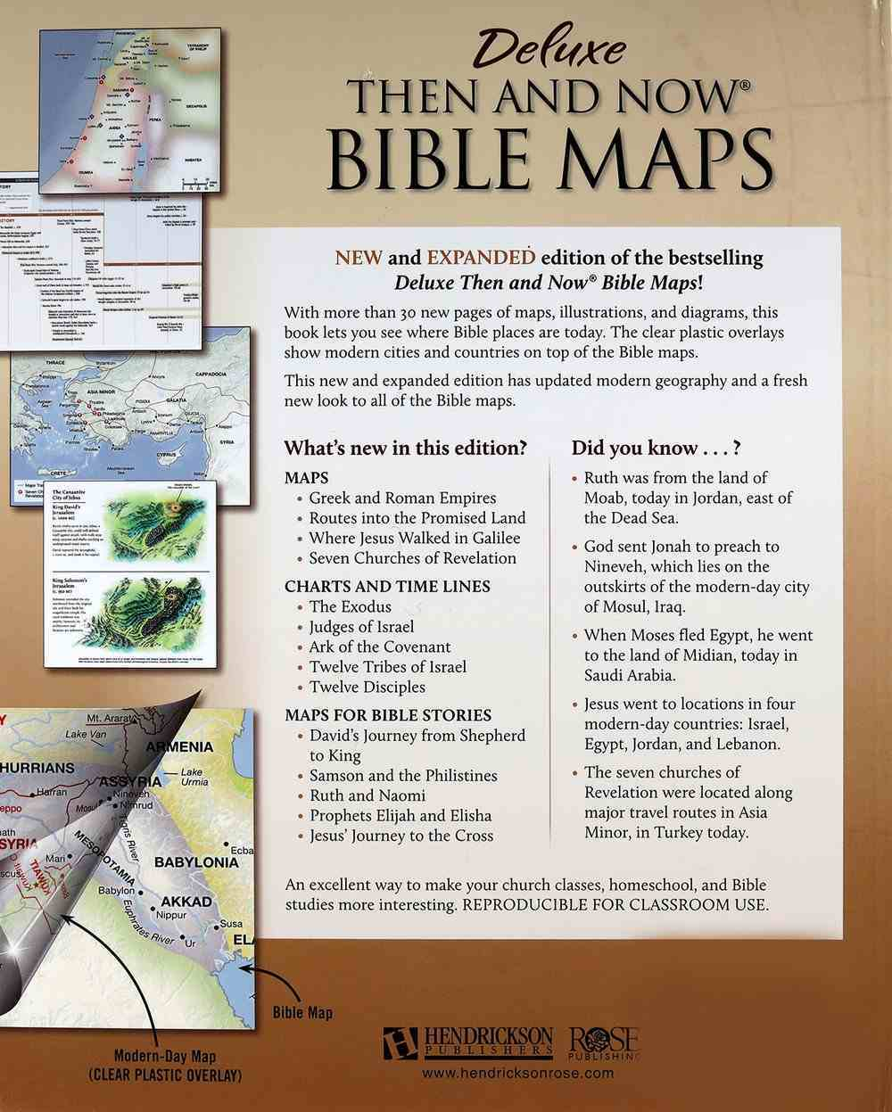 Rose Deluxe Then and Now Bible Maps (New And Expanded 2020 Edition) Hardback