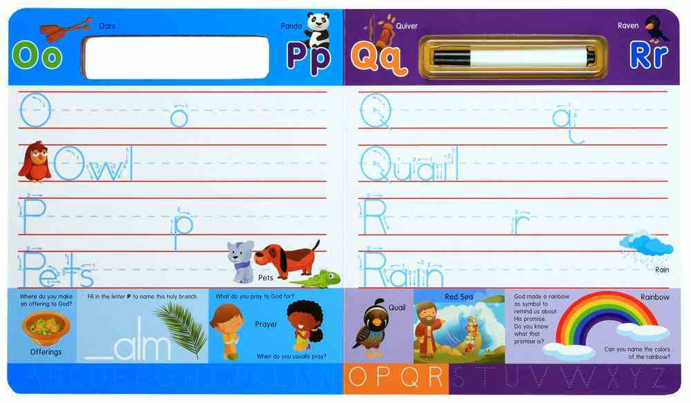 Write-On and Wipe-Off: Bible Abc's (With Marker) Board Book
