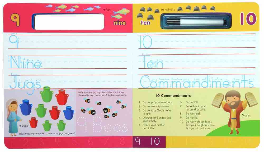 Write-On and Wipe-Off: Bible 123's (With Marker) Board Book