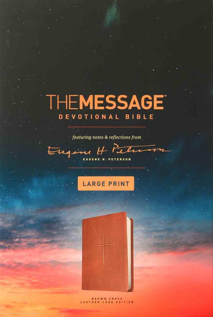 Message Devotional Bible Large Print Brown (Black Letter Edition) Imitation Leather
