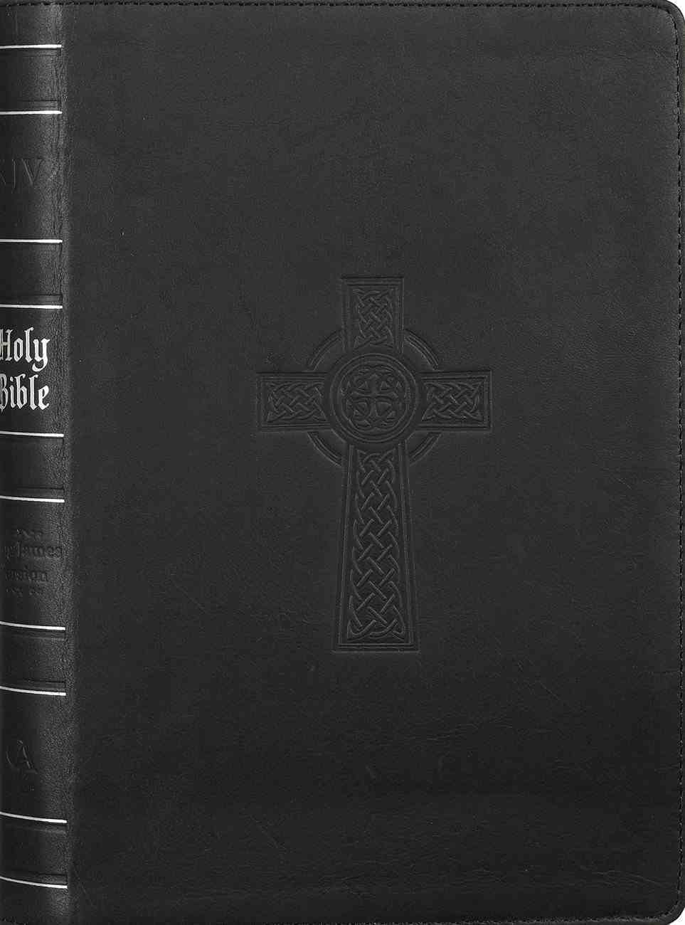 KJV Thinline Large Print Bible Indexed Black (Red Letter Edition) Genuine Leather