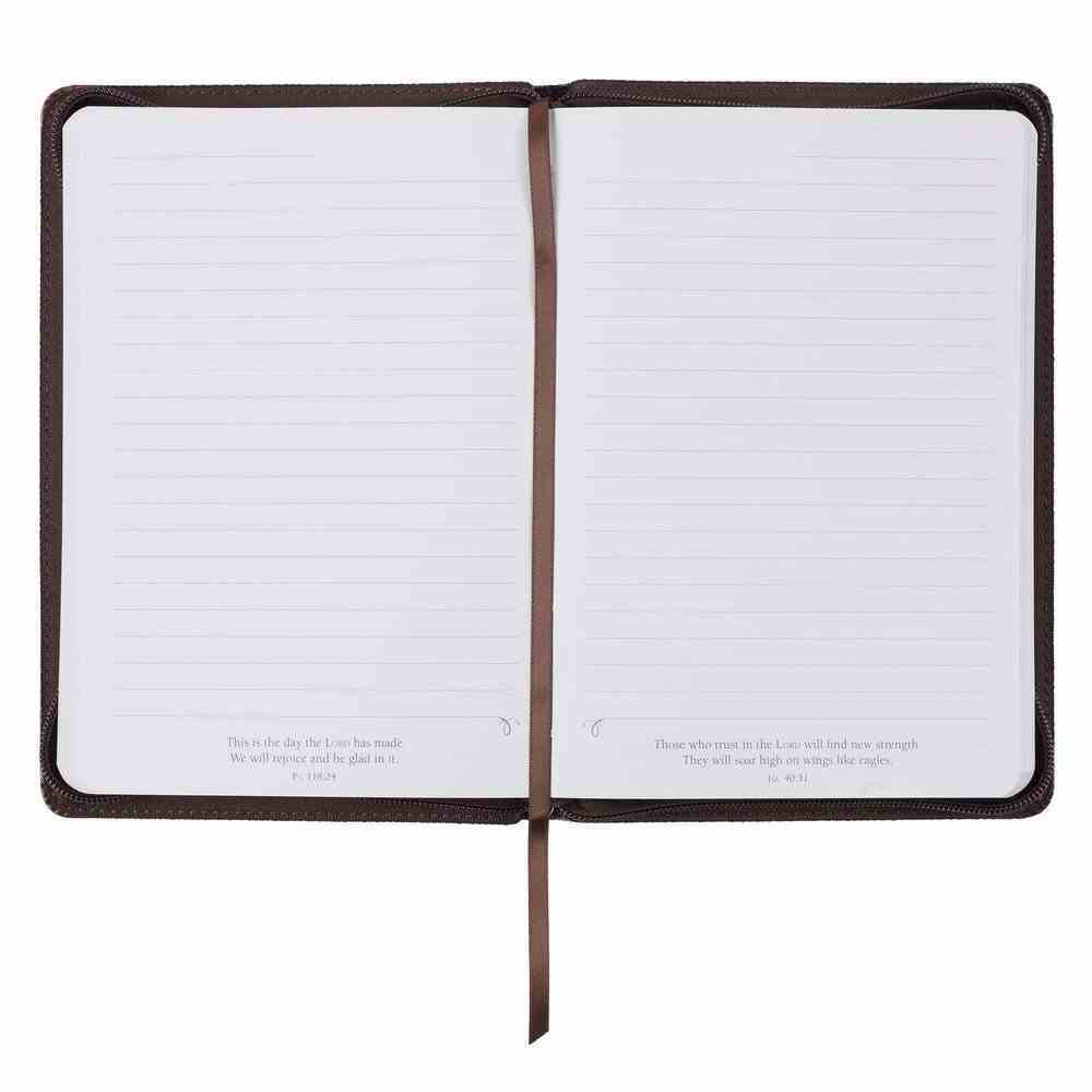 Journal With Zip Closure Brown With Ribbon Marker (Jer 17: 7) (Blessed Man Collection) Imitation Leather