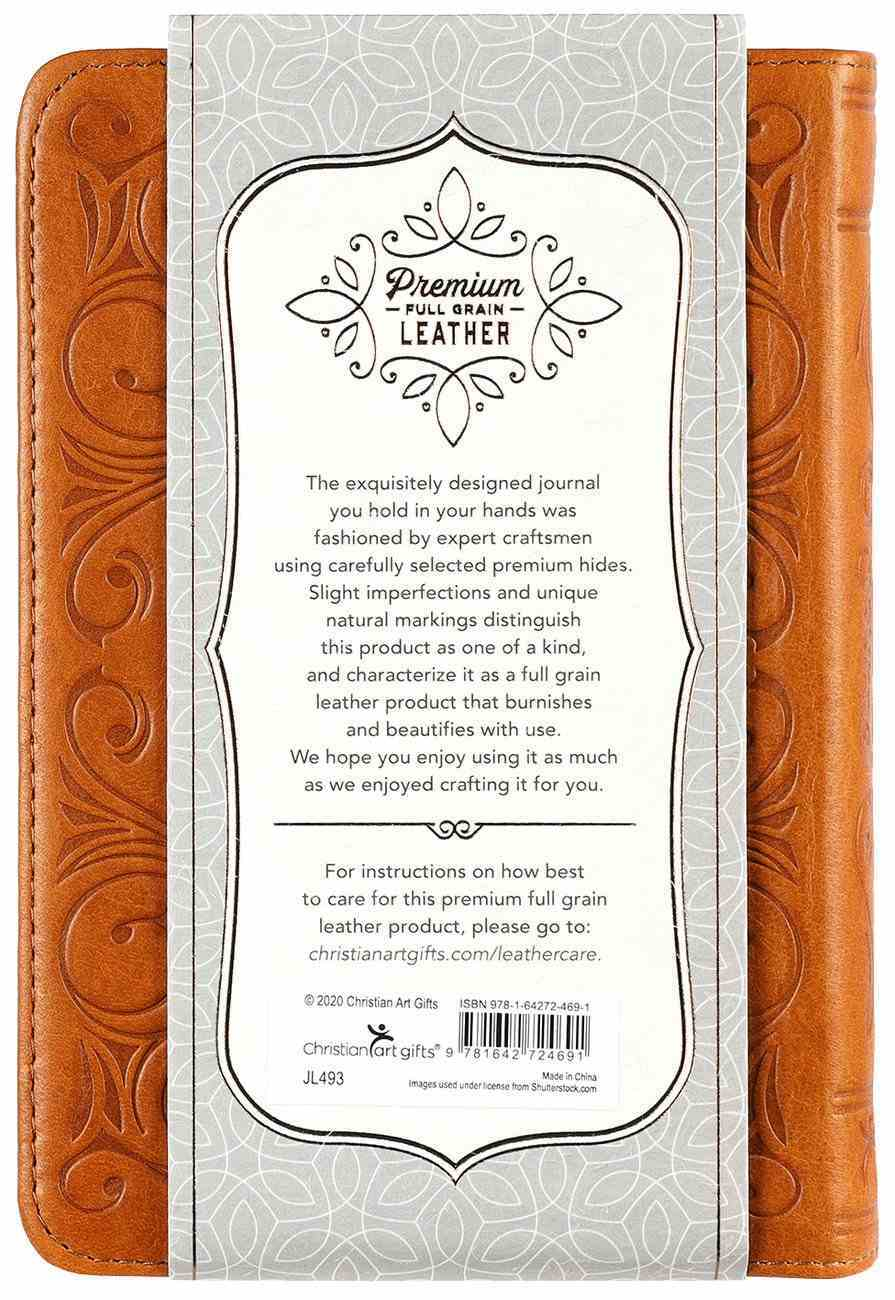 Journal: Genuine Leather Handy-Sized Journal, I Know the Plans Genuine Leather