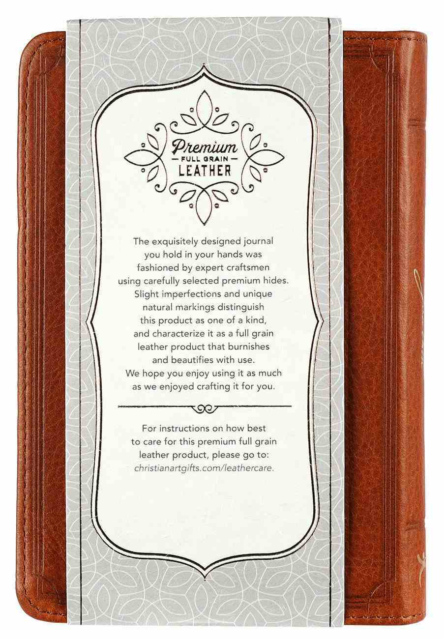 Journal: Genuine Leather Handy-Sized Journal, You Make Known to Me Genuine Leather