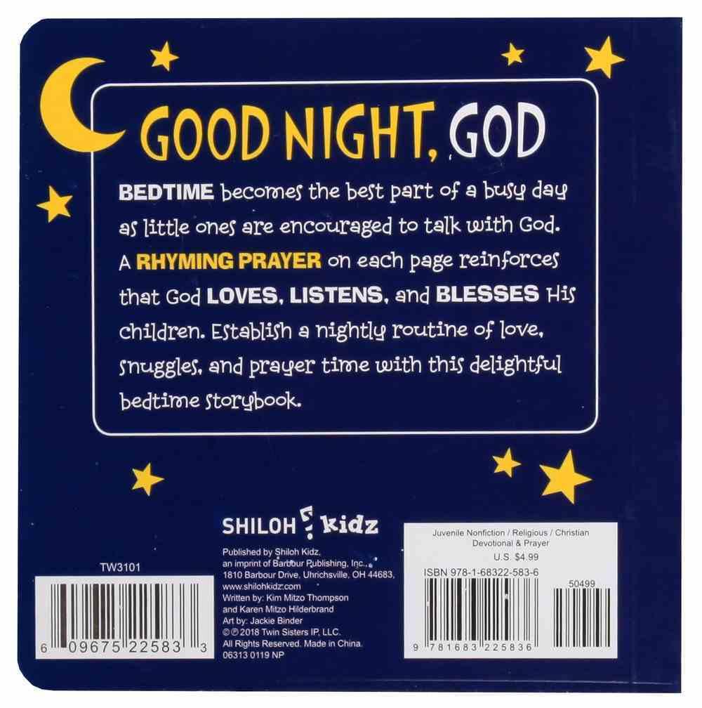 Good Night, God: Bedtime Prayers For Little Ones Board Book