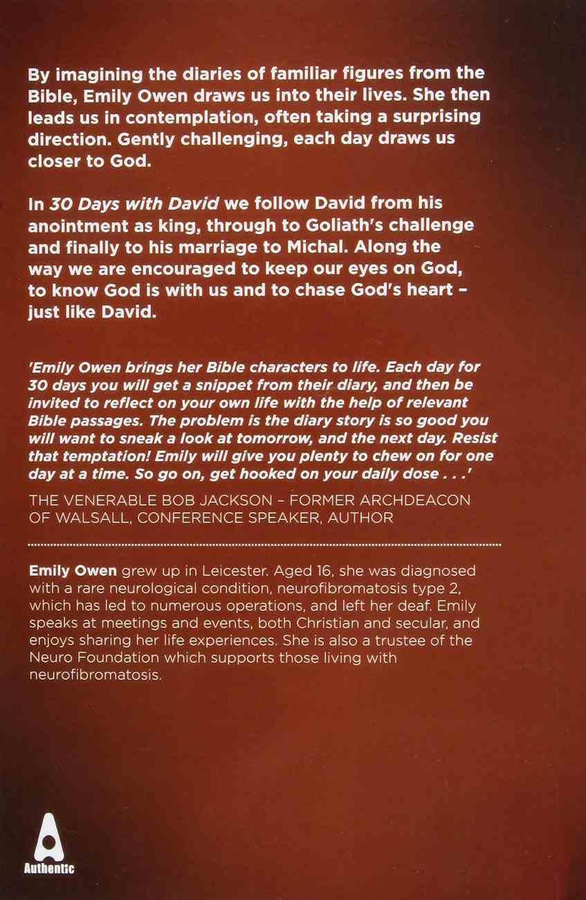 30 Days With David: A Devotional Journey With the Shepherd Boy Paperback