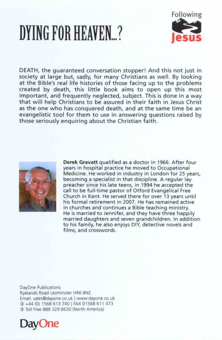 Dying For Heaven...? (Following Jesus (Dayone) Series) Booklet