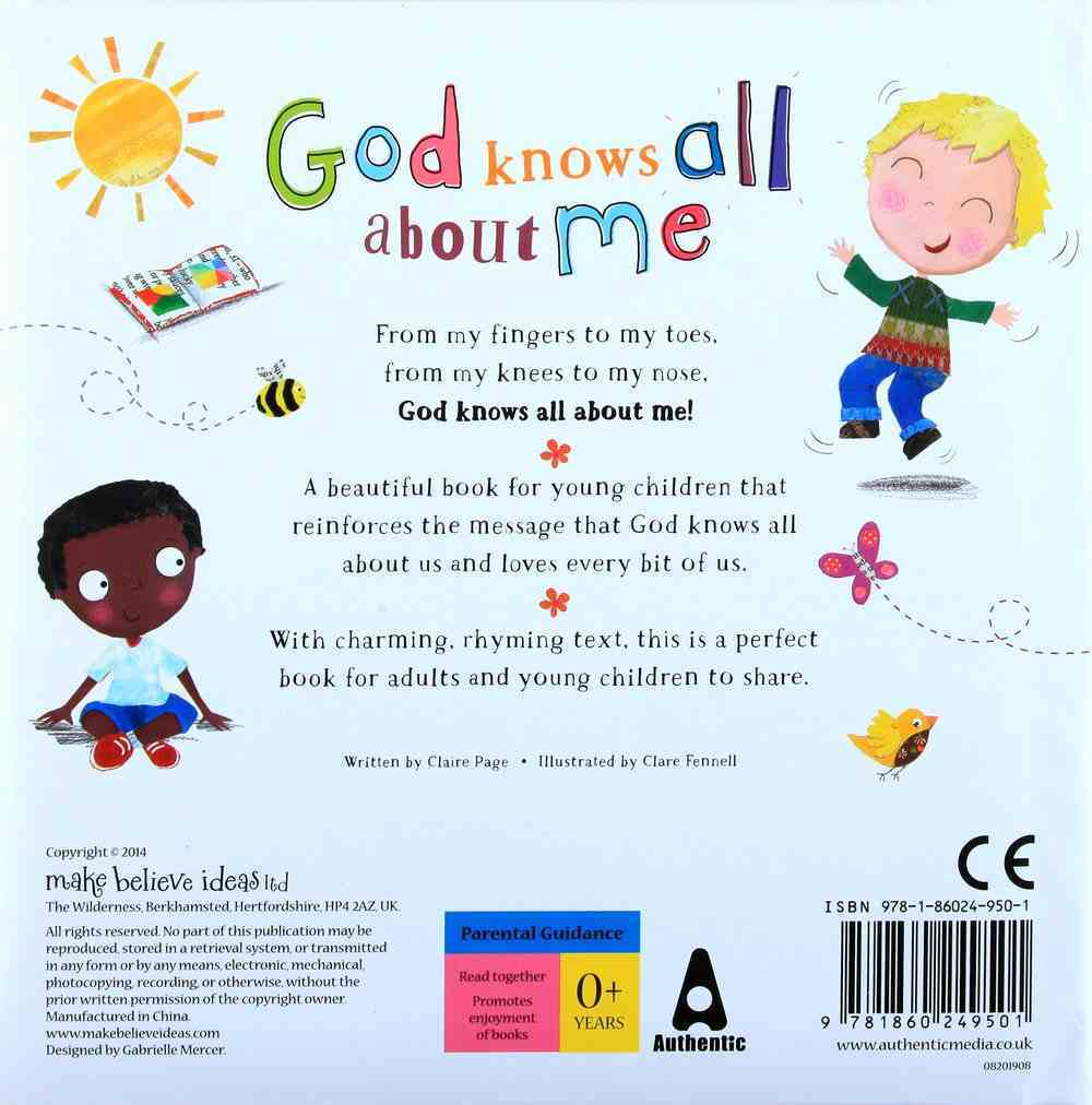 God Knows All About Me Padded Board Book