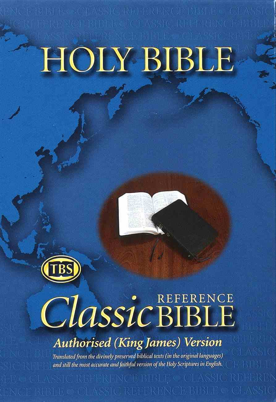 KJV Classic Reference Holy Bible Black (Black Letter Edition) Genuine Leather