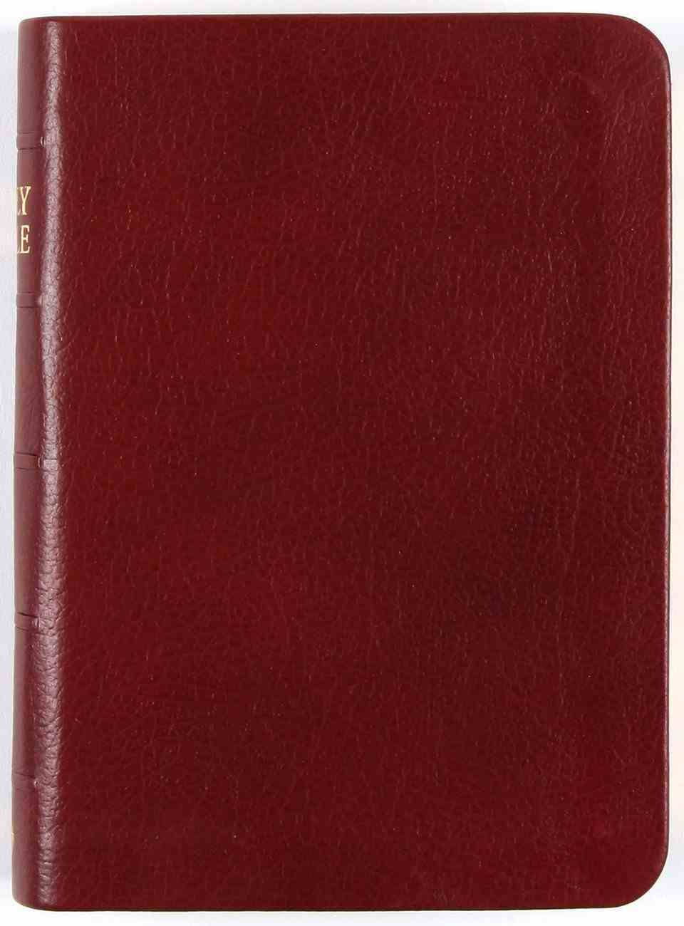 KJV Pocket Holy Bible Reference Burgundy Compact (Black Letter Edition) Genuine Leather