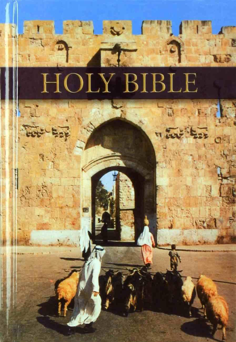 KJV Royal Ruby Holy Bible Pictorial Compact (Black Letter Edition) Hardback