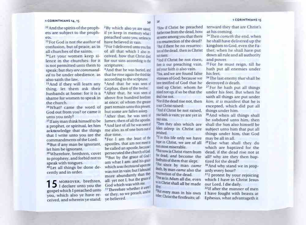 KJV Pocket New Testament and Psalms Blue Vinyl (Black Letter Edition) Vinyl