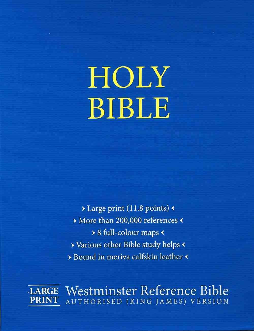 KJV Westminster Reference Bible Large Print (Black Letter Edition) Genuine Leather