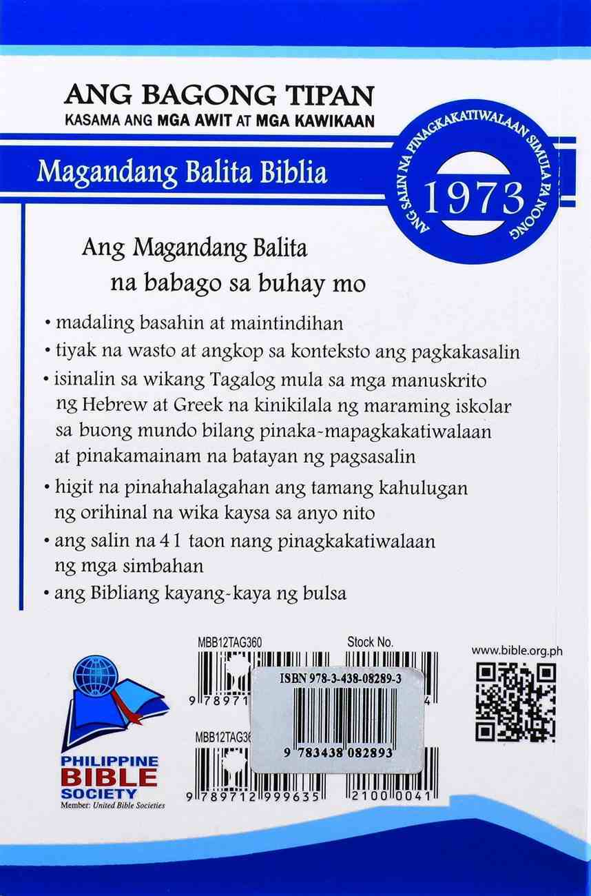 Taglog New Testament With Psalms Paperback