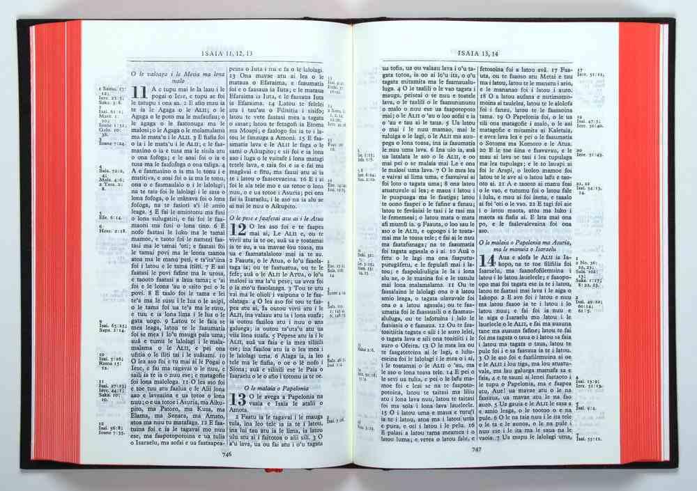 Samoan Bible Reference Revised 1969 Sambr053 Hardback