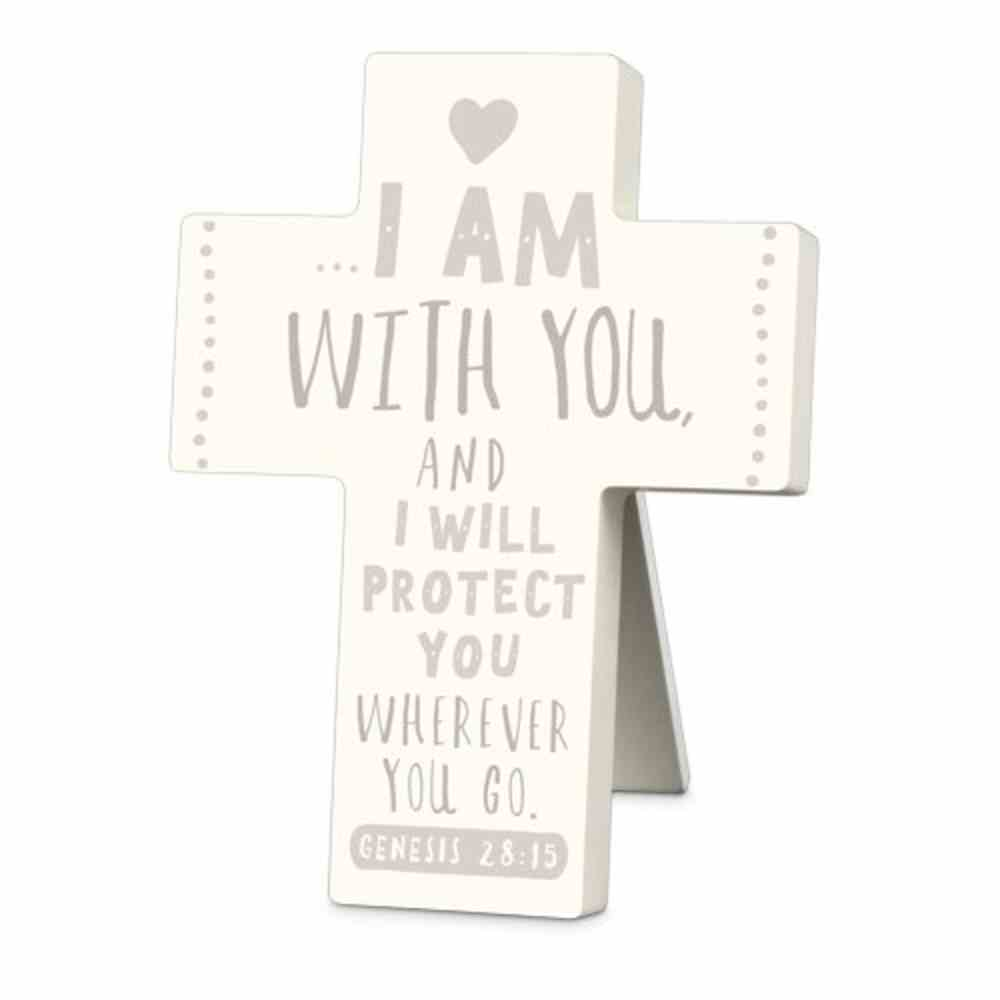 Cross Little Adventurer: I Am With You and I Will Protect You, Cream (Genesis 28:15) Homeware