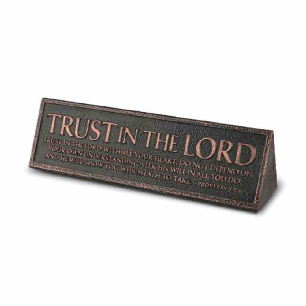 Plaque Cast Stone Desktop Reminder: Trust in the Lord (Proverbs 3:5-6) Homeware