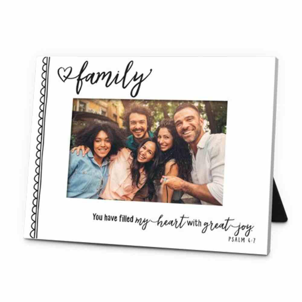Photo Frame: Artisan Doodles, Family Mdf, Easel Back (Psalm 4:7) Homeware