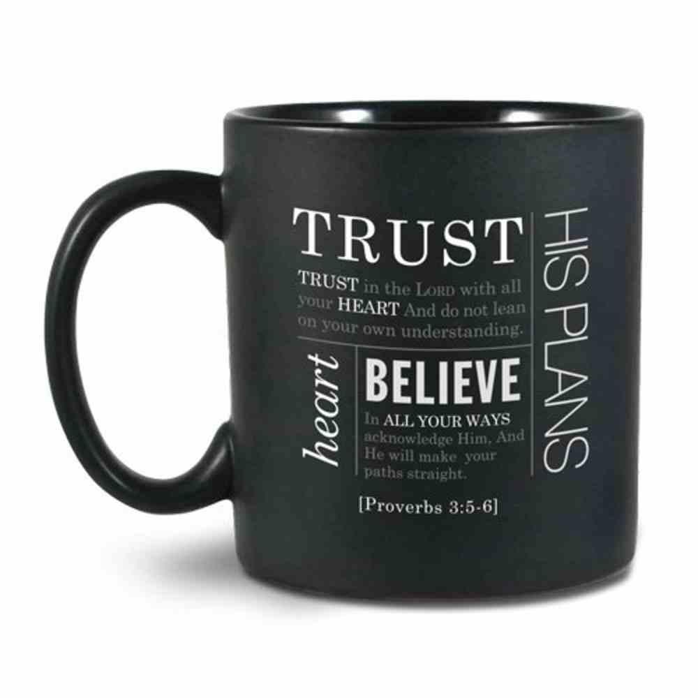 Ceramic Mug Simple Faith: Trust, Black/White (Proverbs 3:5-6) Homeware