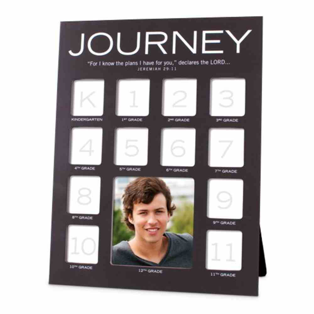School Photo Frame: Journey Through the Years , Mdf (Jeremiah 29:11) Homeware