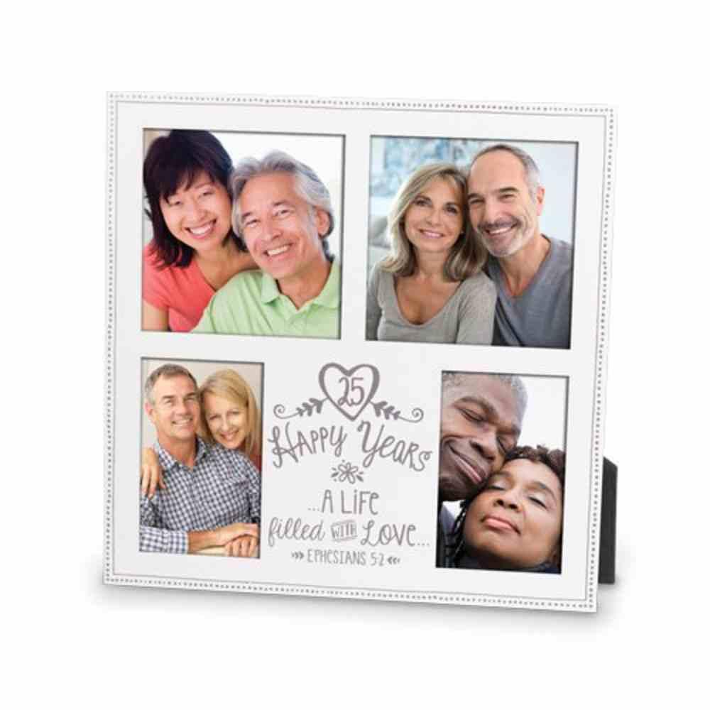 Mdf Frame Collage: 25Th Anniversary Love (Eph 5 2) Homeware