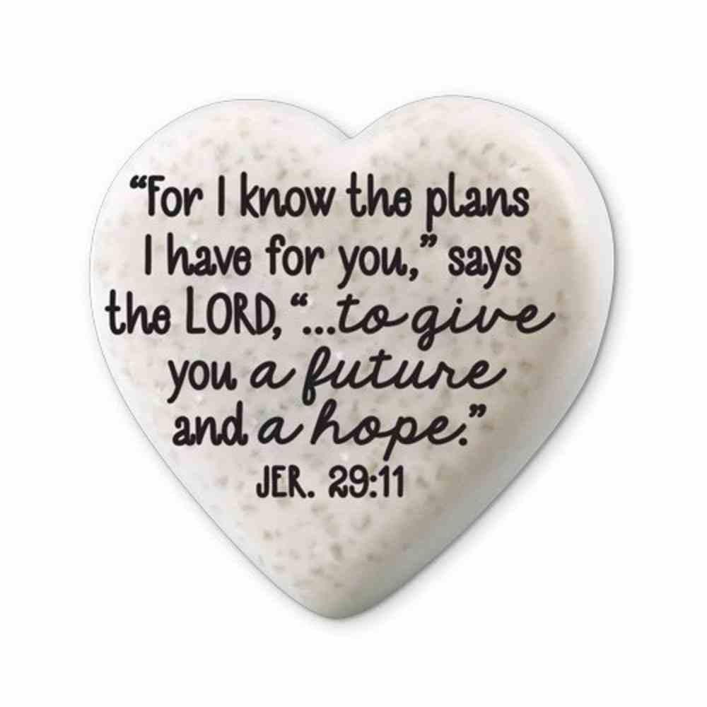 Plaque Scripture Stone: Hearts of Hope - Journey (Jeremiah 29:11) Plaque