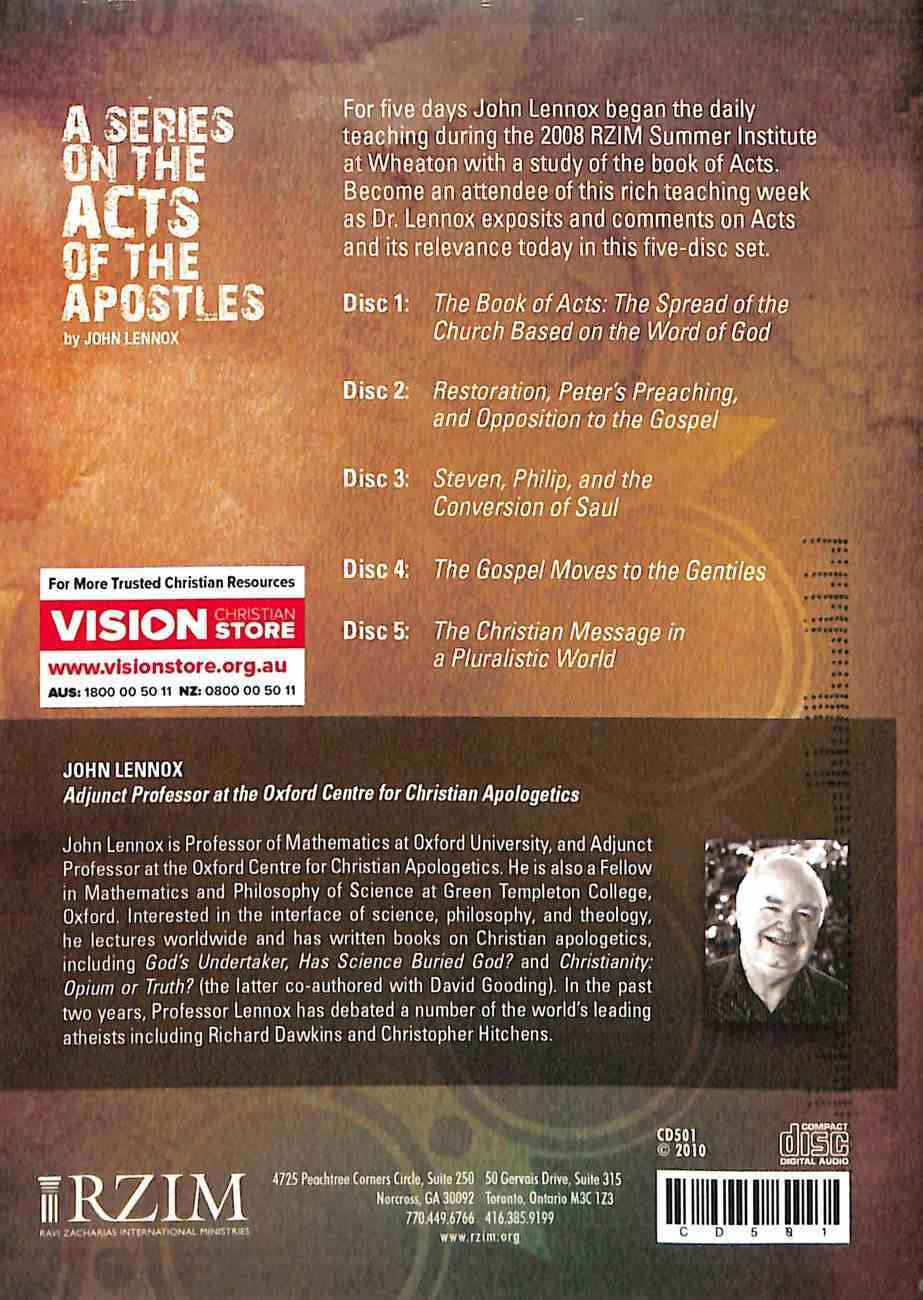 A Series on the Acts of the Apostles (5 Cd Set) CD