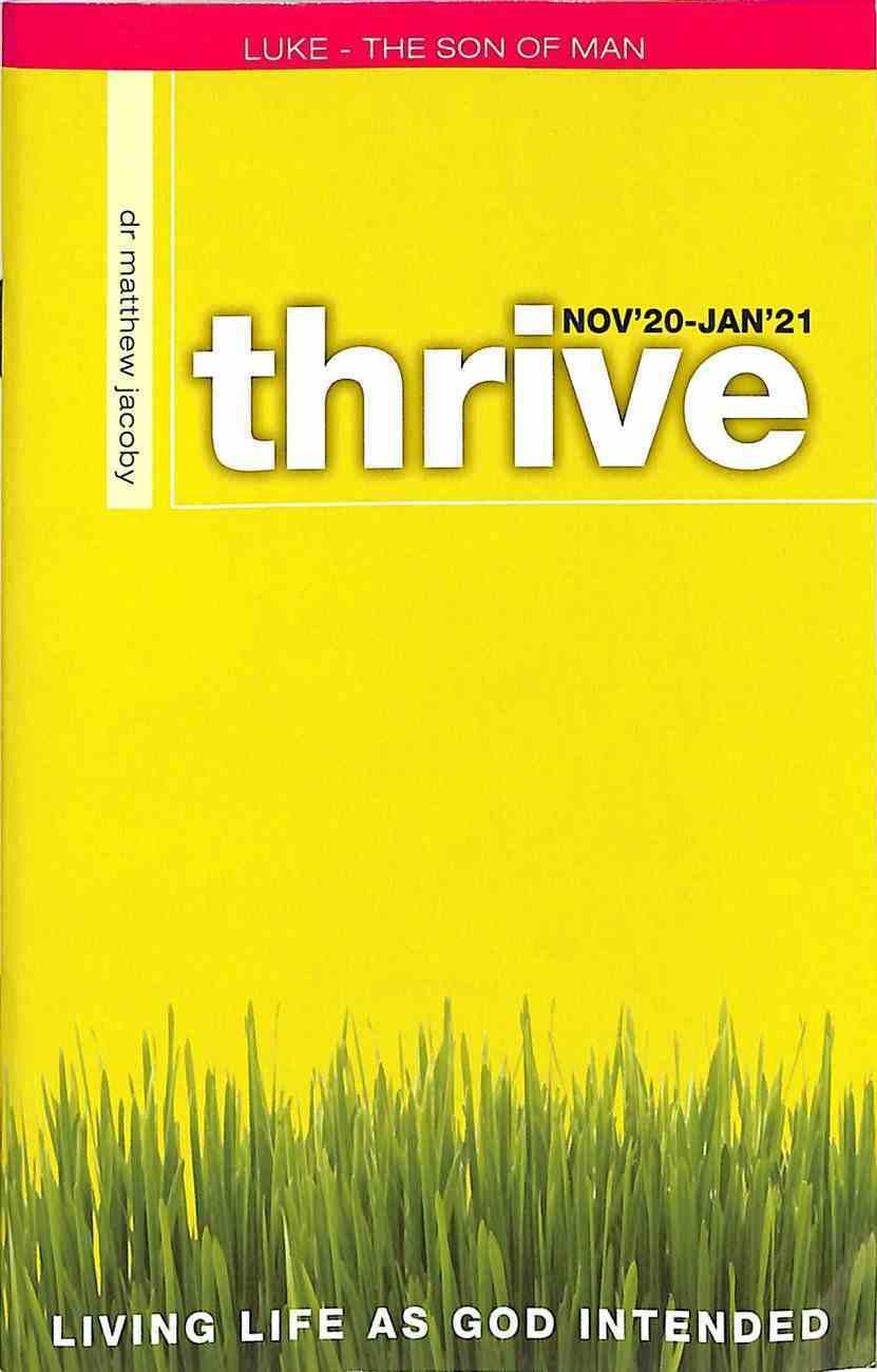Thrive 2020 #01: Nov 2020-Jan 2021 Magazine