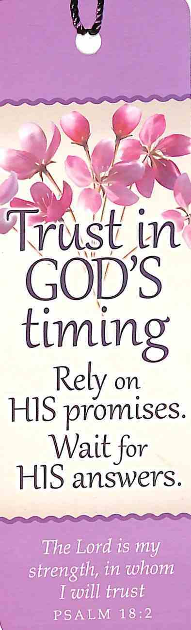 Bookmark With Tassel: Trust in God's Timing Stationery