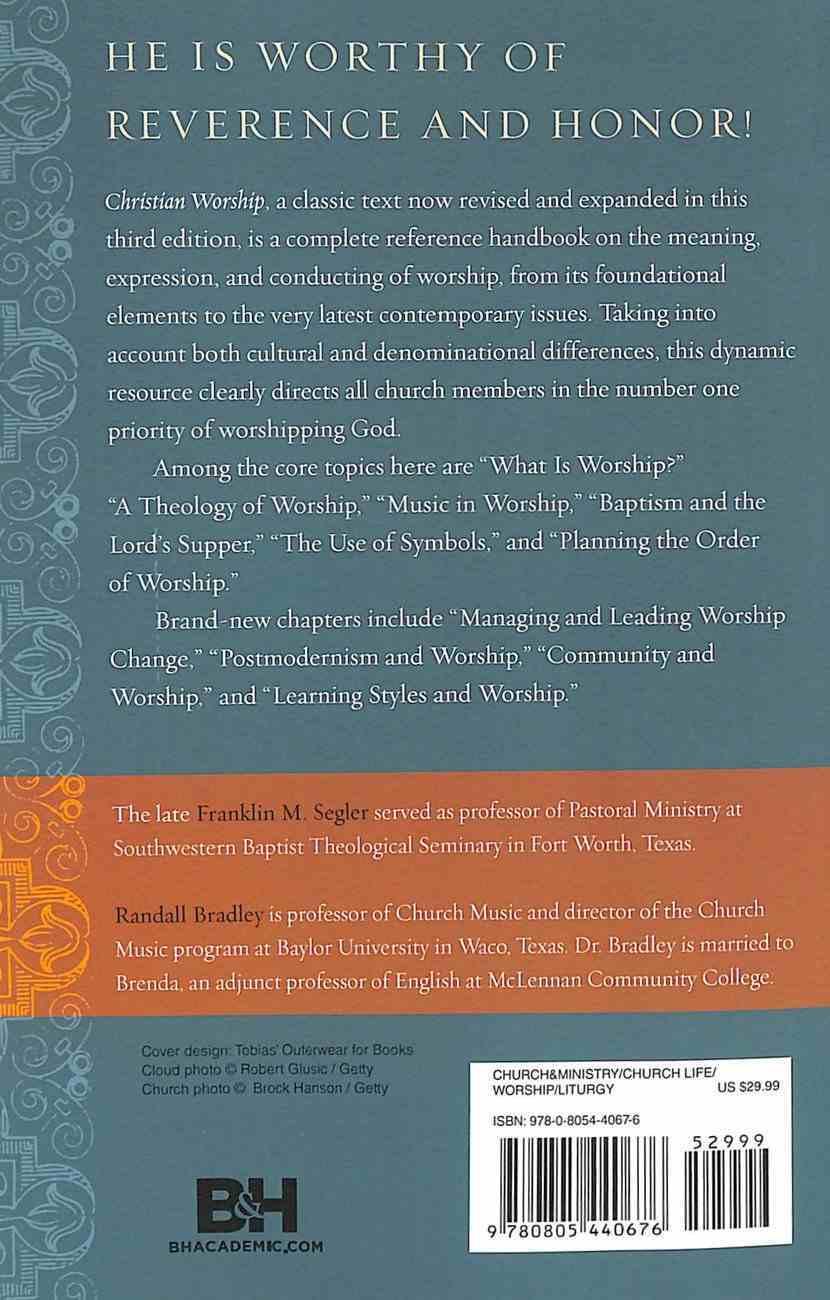 Christian Worship Third Edition Paperback